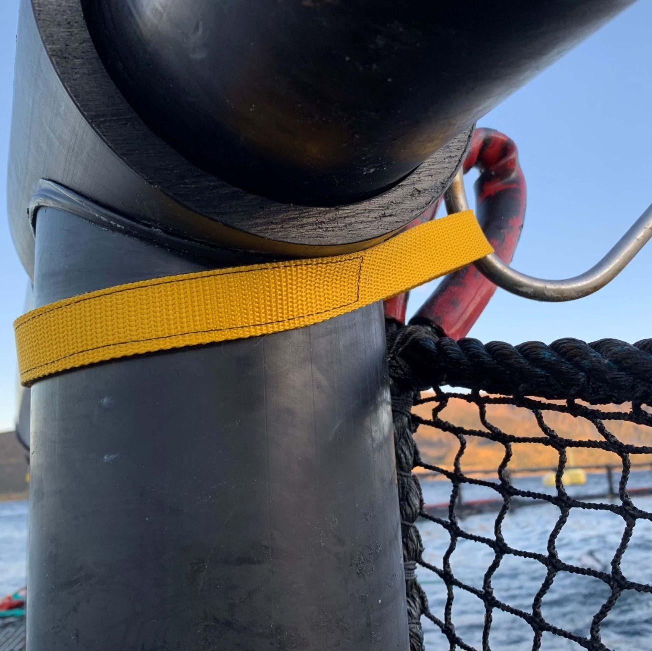 Yellow safety strap